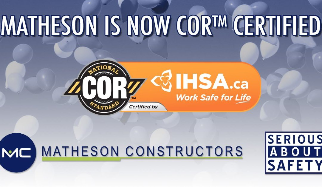 Matheson is COR Certified